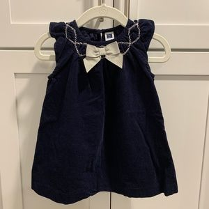 Janie and Jack Navy Cord Dress 6-12 mo